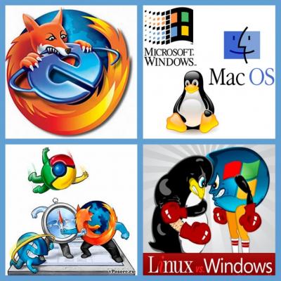 Самые популярные браузеры и операционные системы