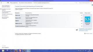 Оценки в Windows 8 сразу после покупки